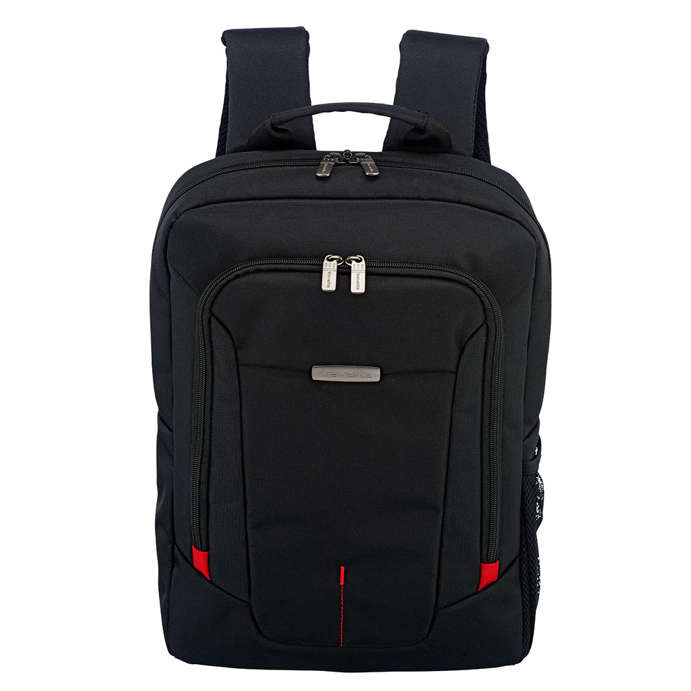 Travelite @Work Business Backpack Slim Black Melange