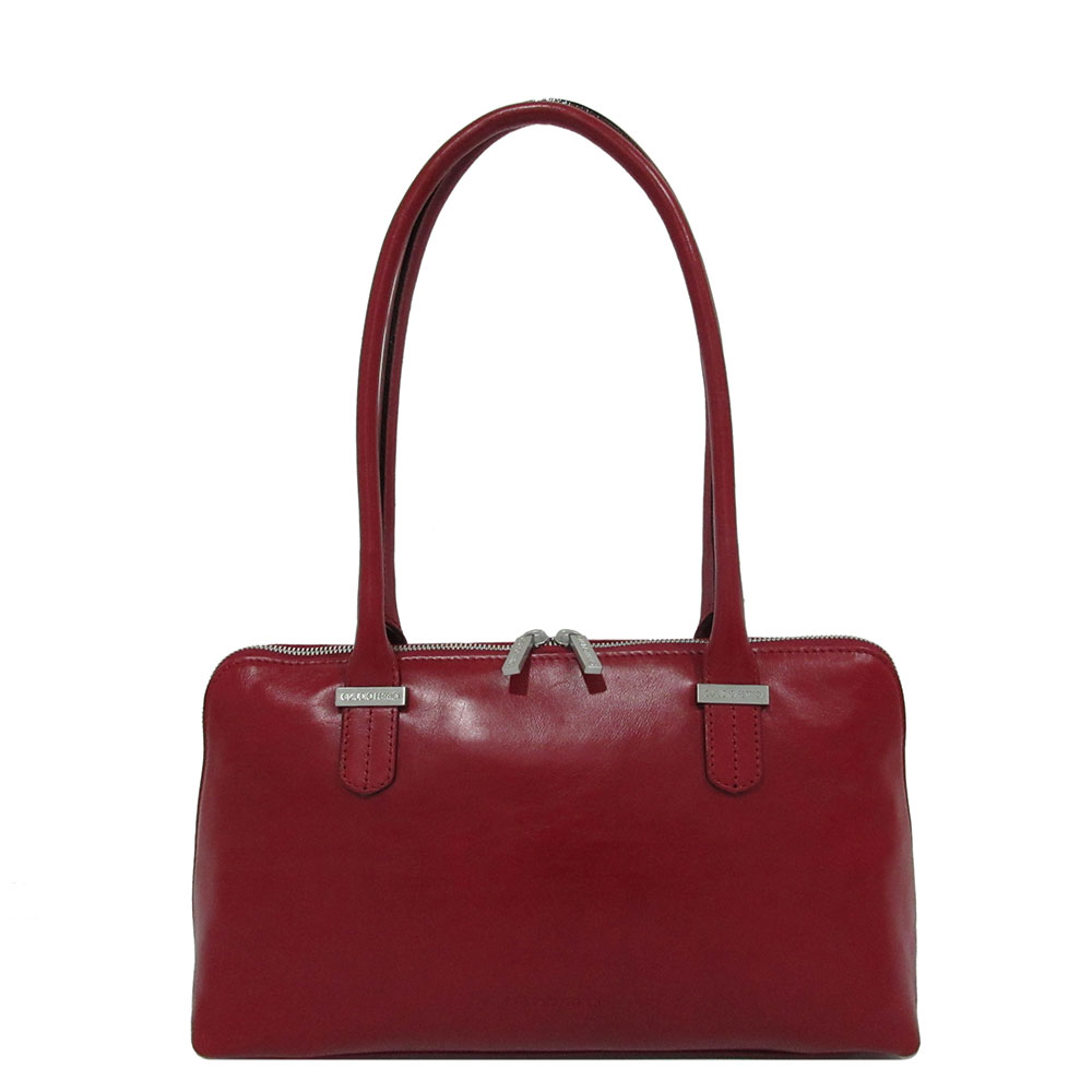 Claudio Ferrici Classico Shopper Schoudertas Red