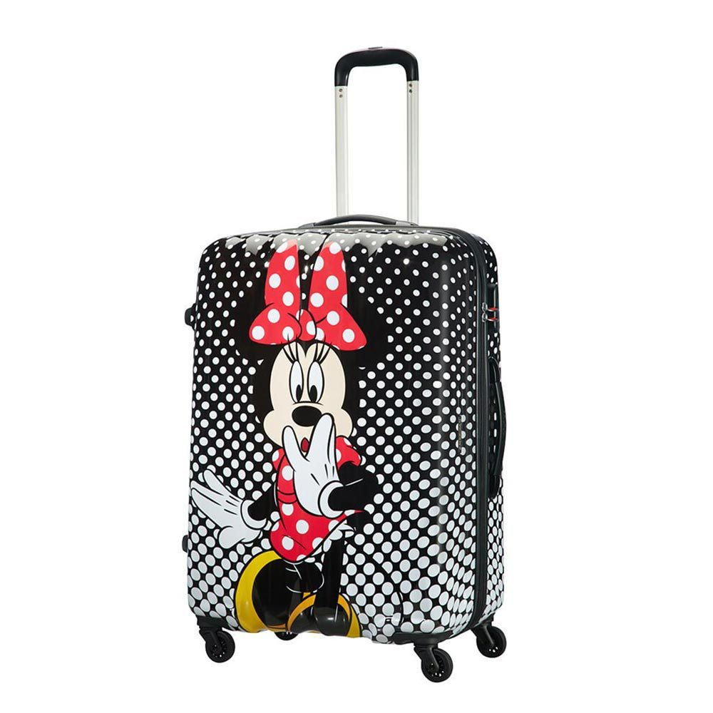 American Tourister Disney Legends Spinner 75 Alfatwist Minnie Mouse Polka Dot