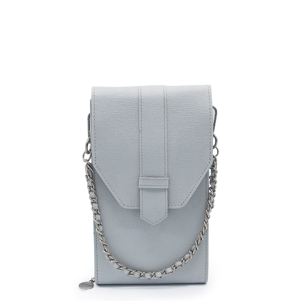 M?SZ Phonebag Schoudertas Saffiano Grey Light