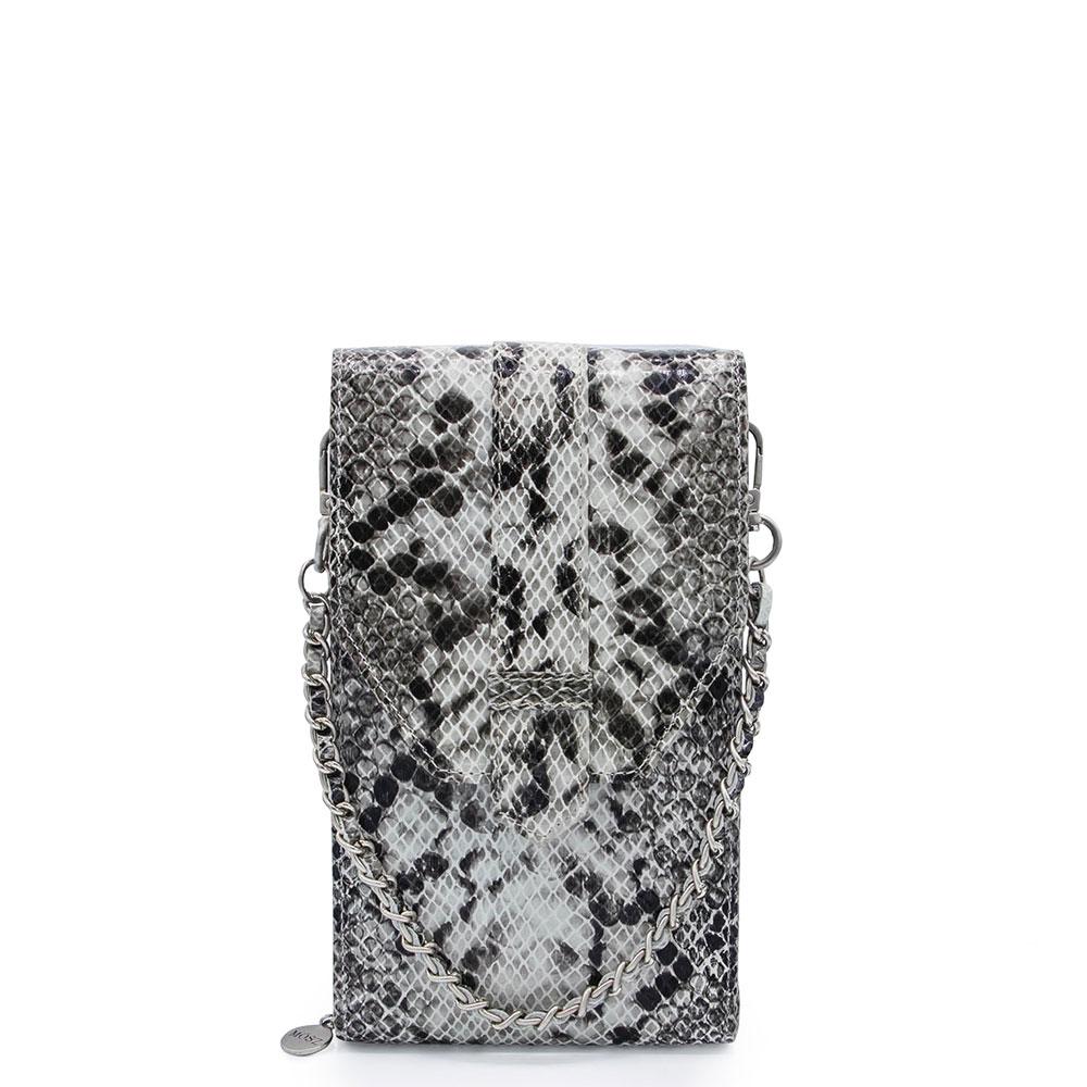 M?SZ Phonebag Schoudertas Python Black Grey