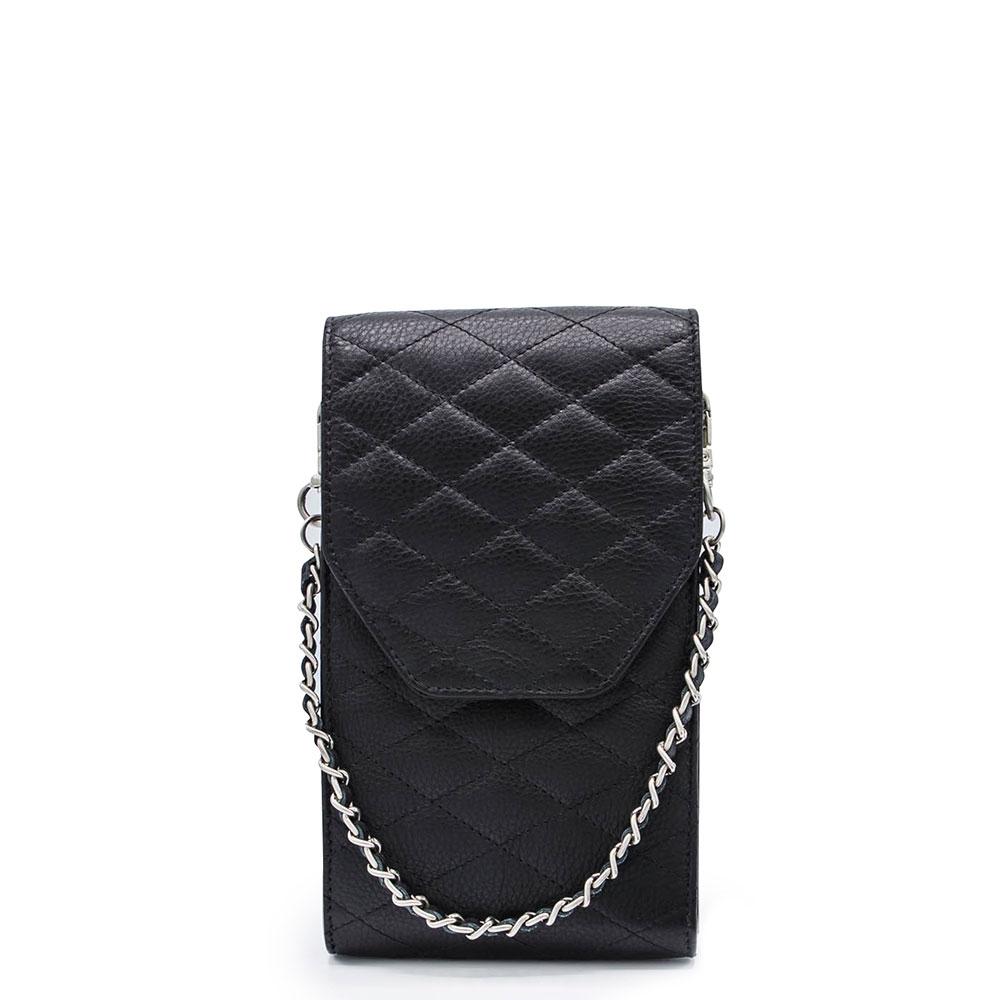 M?SZ Phonebag Schoudertas Quilted Black