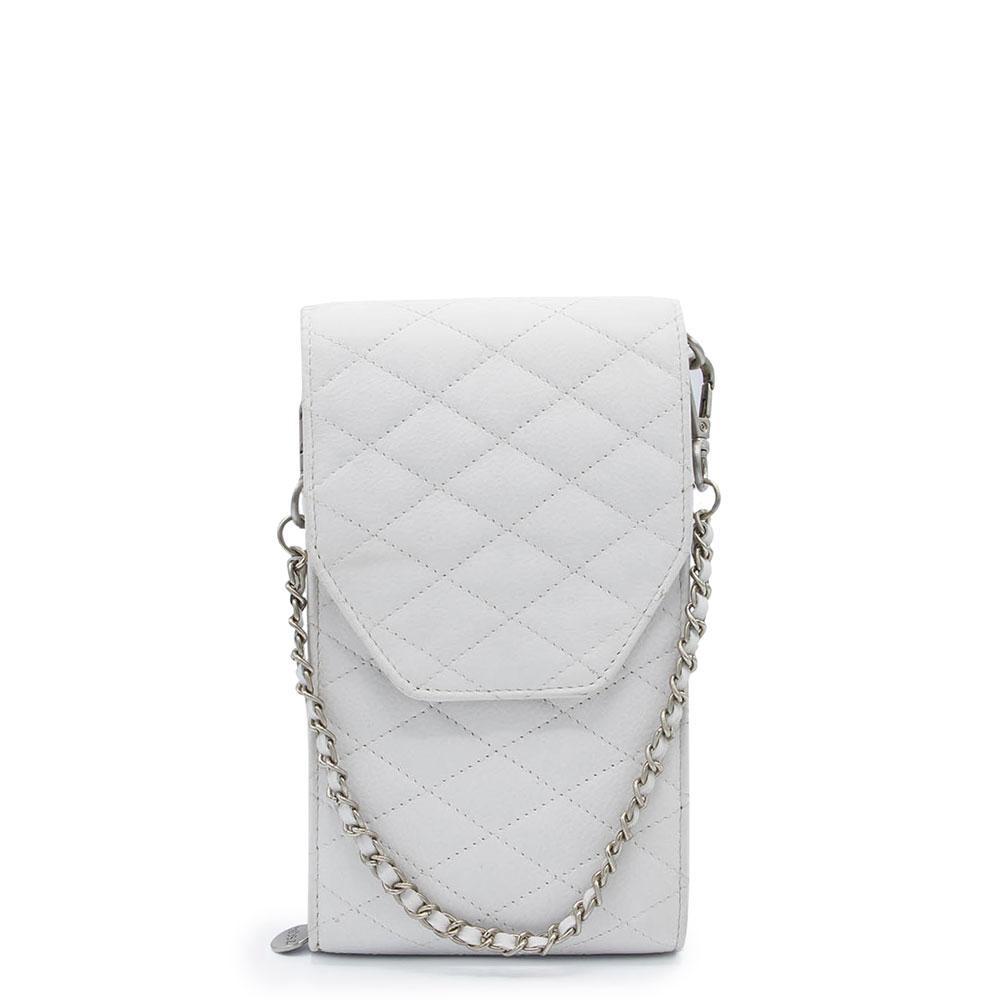 M?SZ Phonebag Schoudertas Quilted White Off
