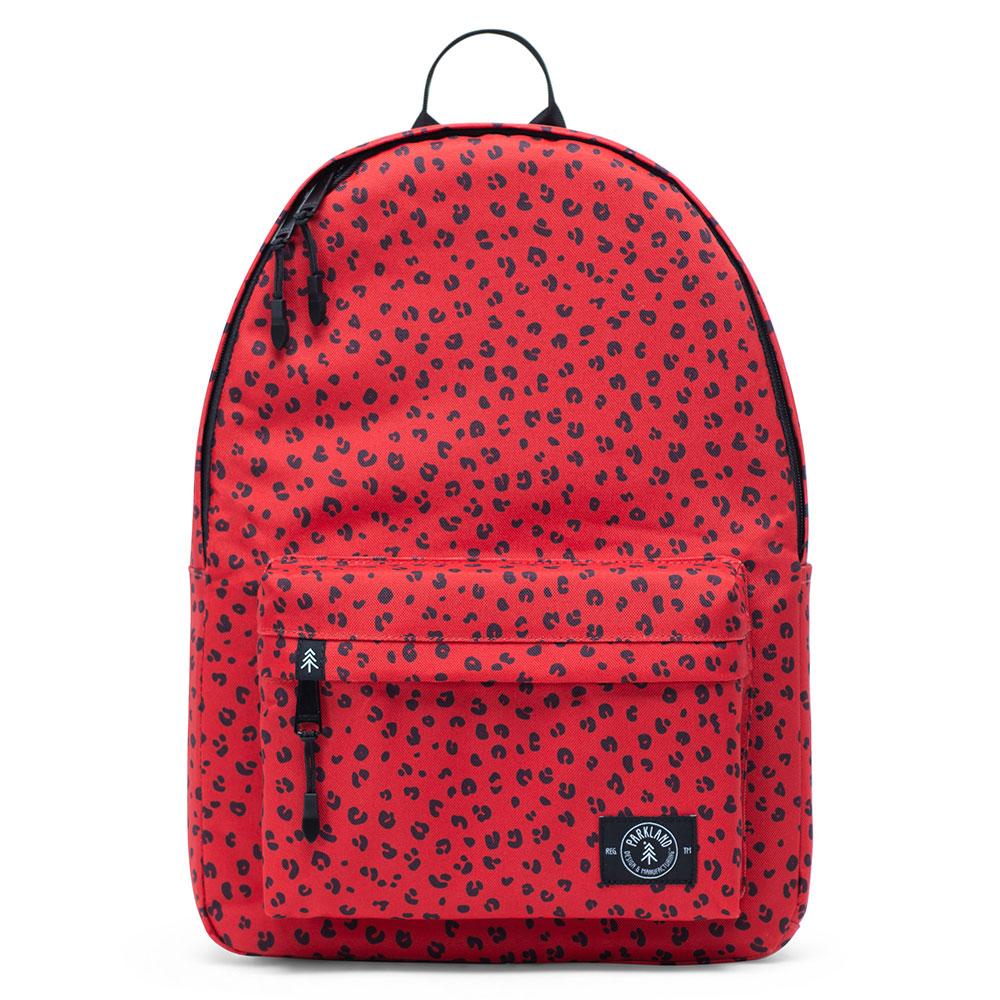 Parkland Vintage Backpack Red Leopard