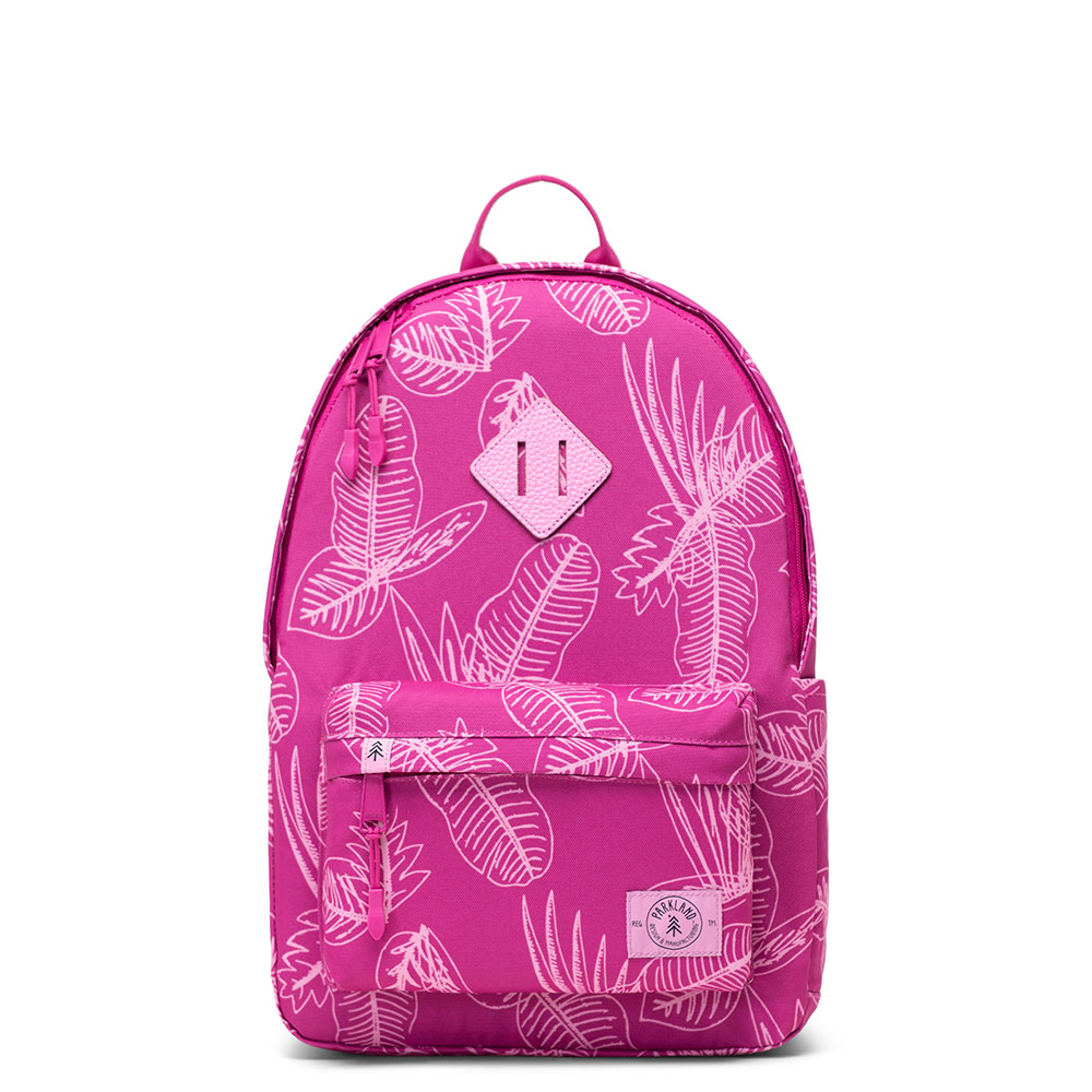 Parkland Bayside Kids Backpack Jungle Leaves Berry