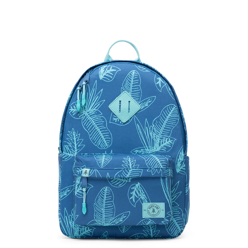 Parkland Bayside Kids Backpack Jungle Leaves Horizon