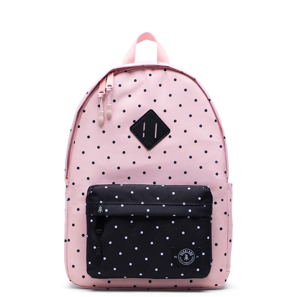 Parkland Bayside Kids Backpack Polka Dots Quartz