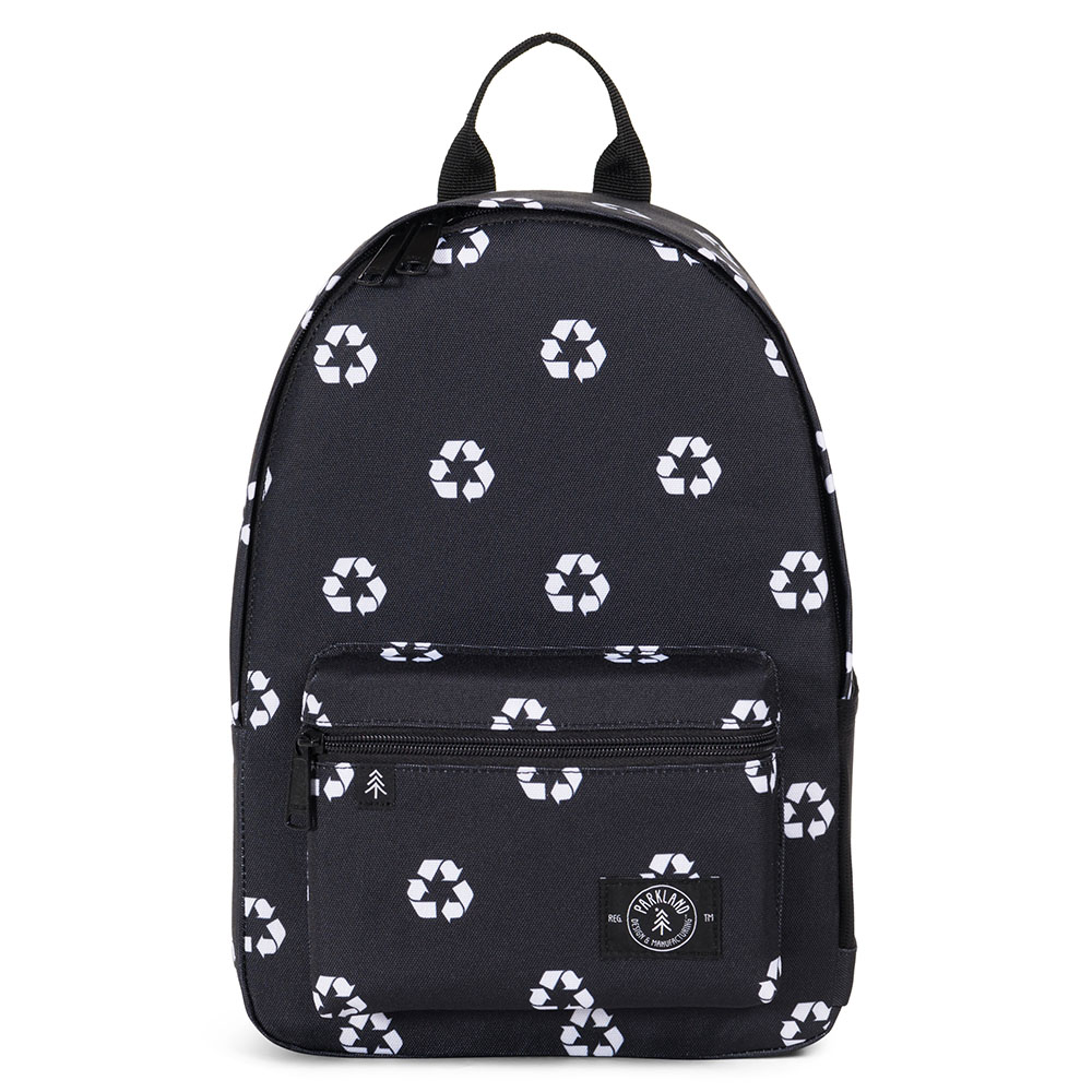 Parkland Edison Kids Backpack Recycle Black