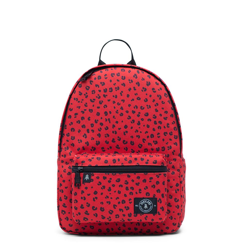 Parkland Edison Kids Backpack Red Leopard