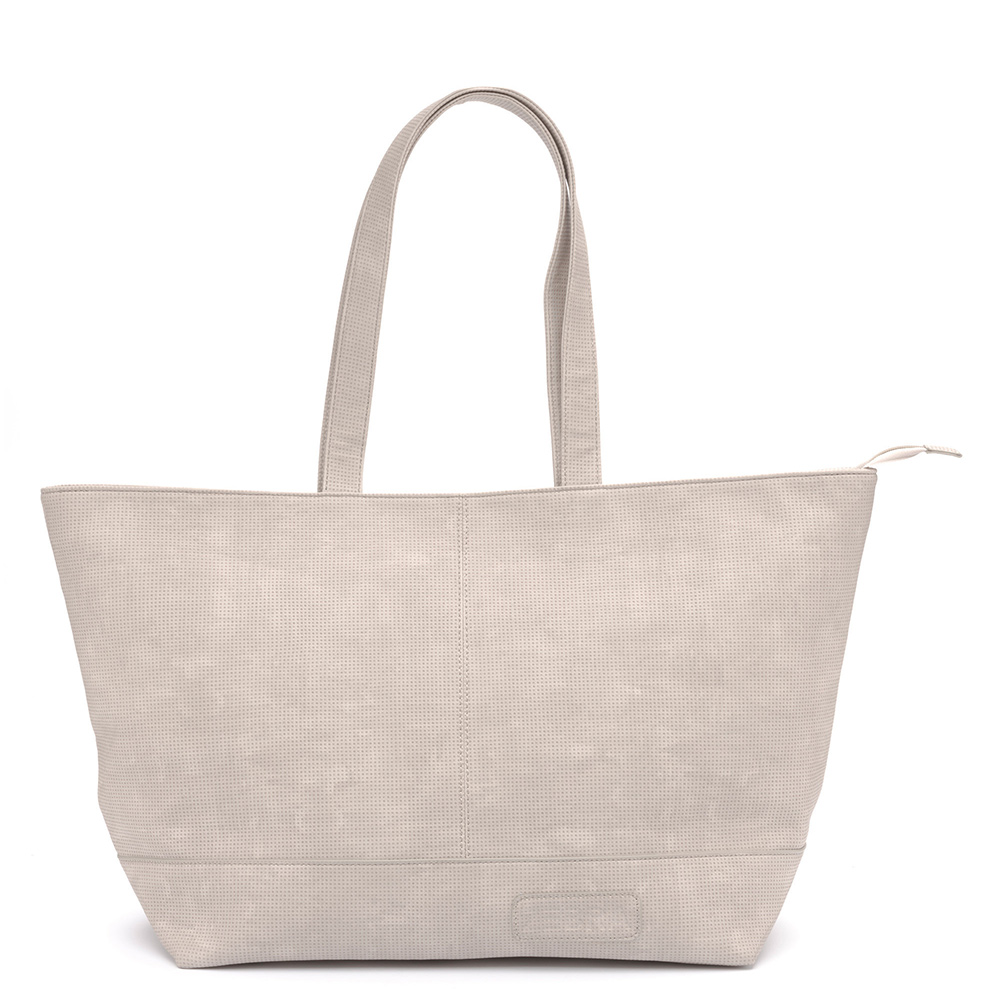 Zebra Trends Natural Bag XXL Rits Vintage Light Grey 208806 Zebra Trends Reistassen zonder wielen