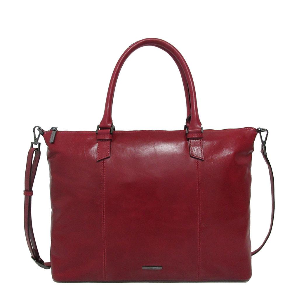 Claudio Ferrici Pelle Vecchia Business Tote Bag Red 22002