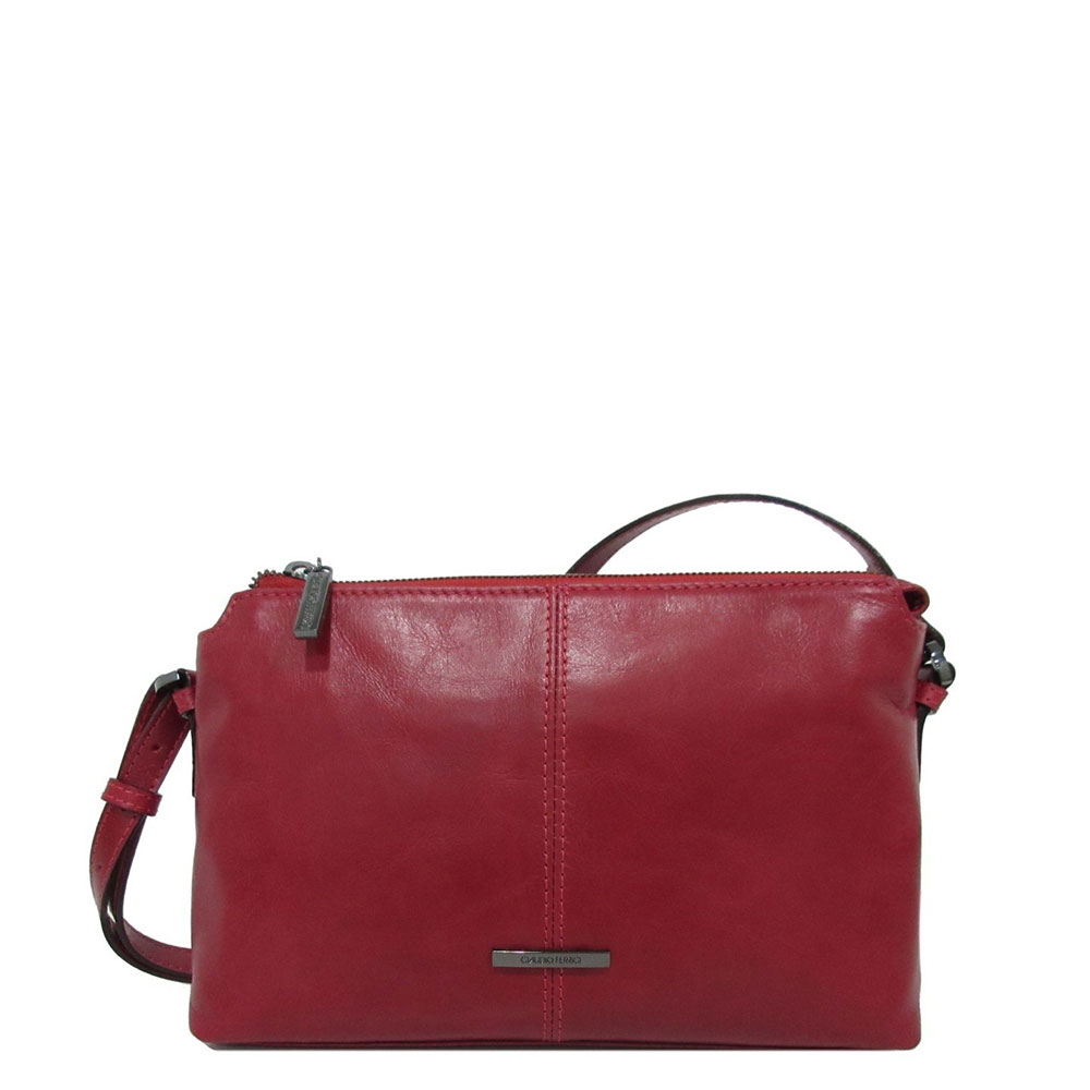 Claudio Ferrici Pelle Vecchia Crossbag Red 22050