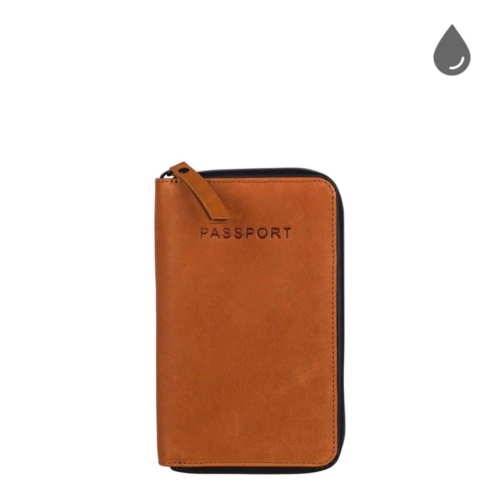 Burkely Rain Riley Passport Wallet Corroded Cognac