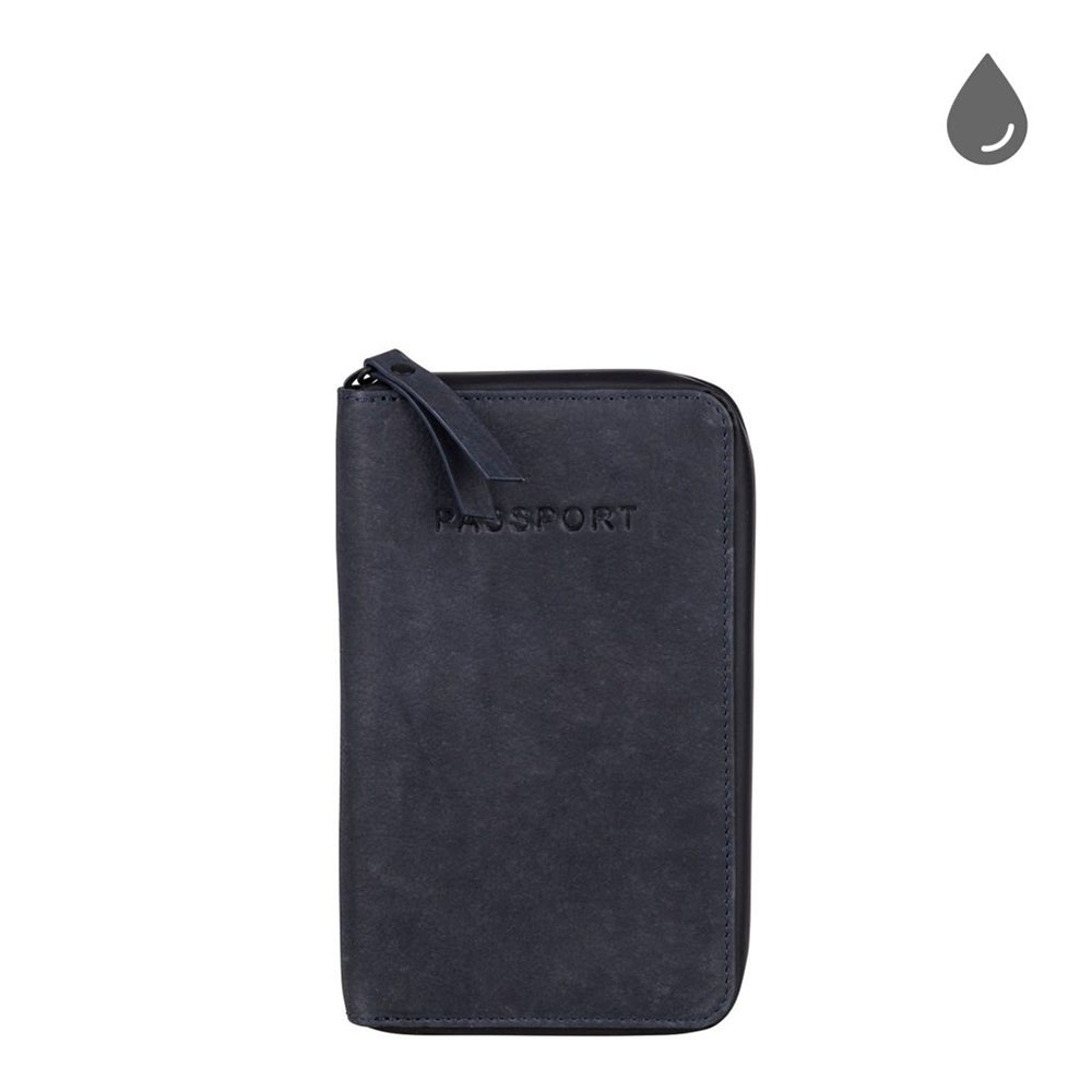 Burkely Rain Riley Passport Wallet Storm Blue