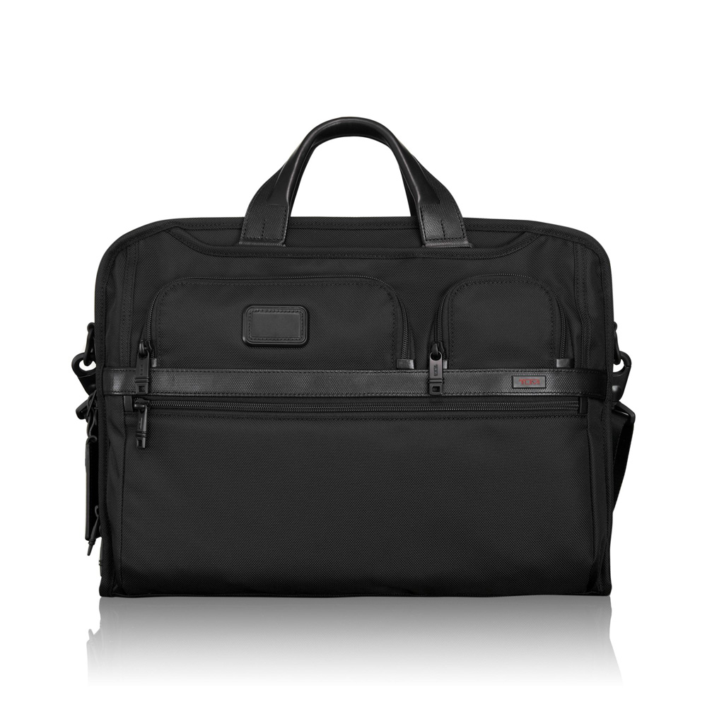 Tumi Alpha 2 Business Compact Large Screen Computer Brief Black