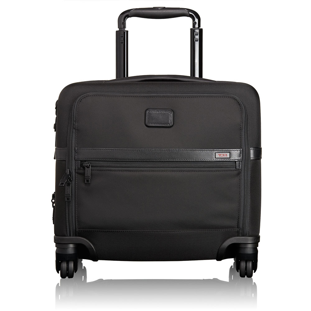 Tumi Alpha 2 Business 4-Wheel Compact Brief Black