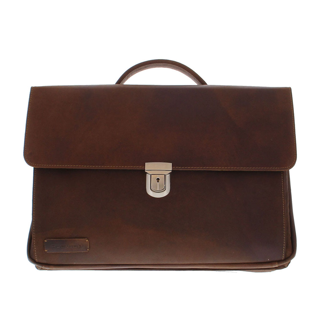 Plevier Vintage Business/ Laptoptas 3-vaks 17 Brown 36