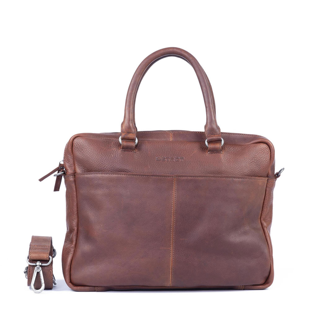 DSTRCT Raider Road Laptoptas 15.4 Cognac 360030