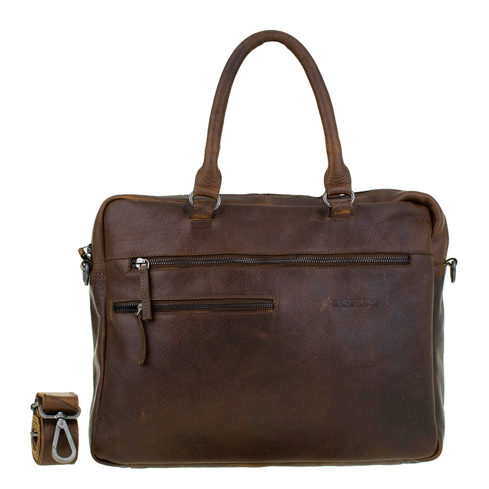 DSTRCT Raider Road Laptoptas 15 Cognac/ Brown 360330