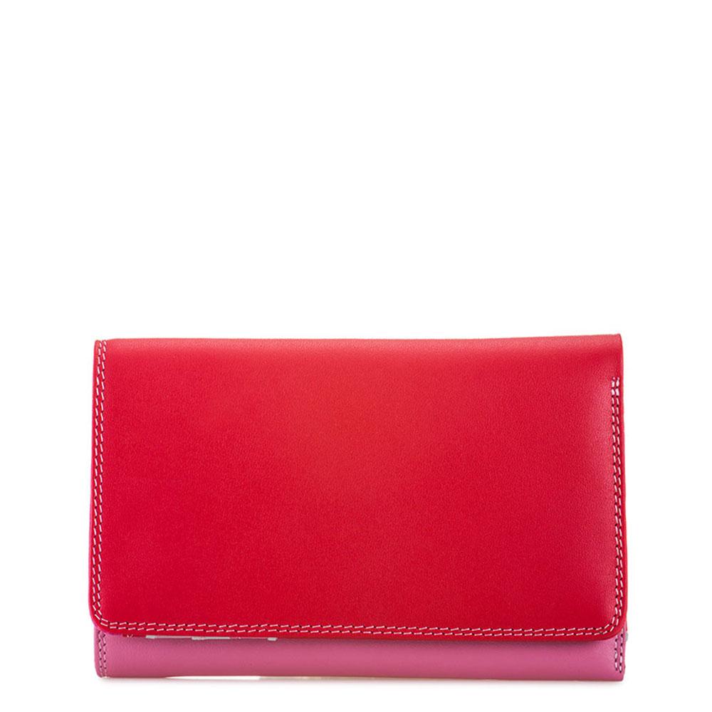Mywalit Medium Tri-Fold Wallet Outer Zip Portemonnee Ruby