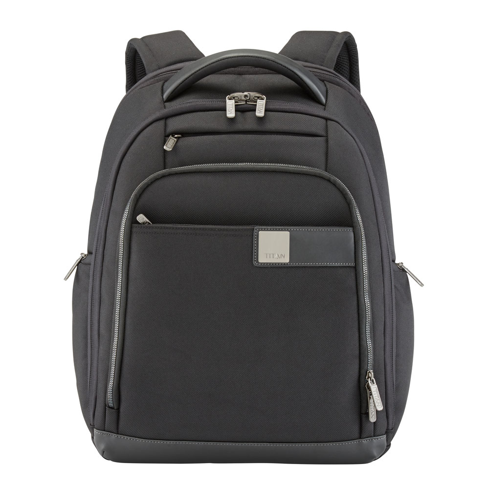 Titan Power Pack 15'' Laptop Backpack Expandable Black
