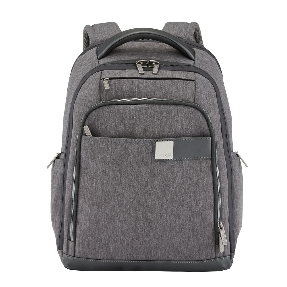 "Titan Power Pack 15"" Laptop Backpack Expandable Anthracite"