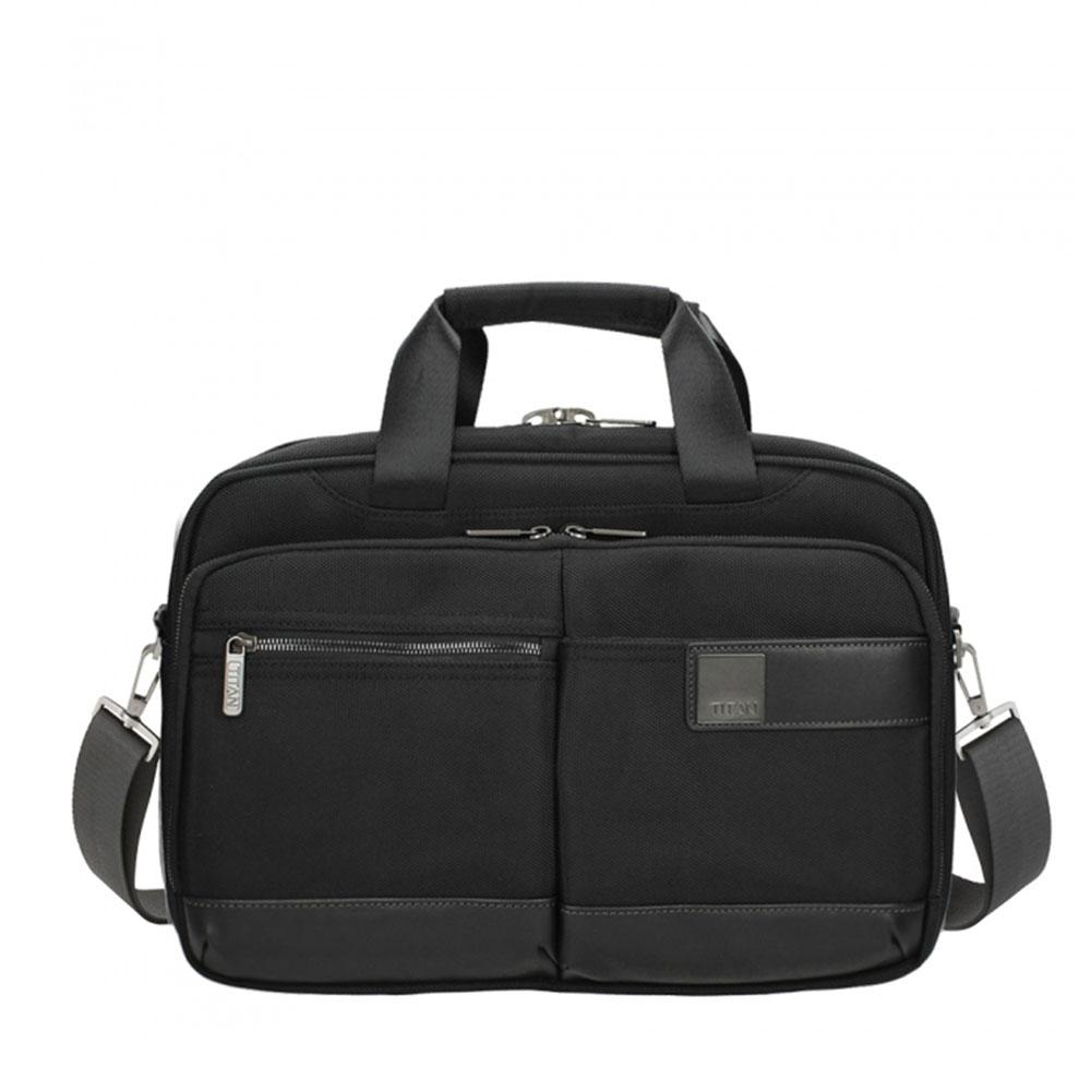 Titan Power Pack 13 Laptop Schoudertas Small Expandable Black