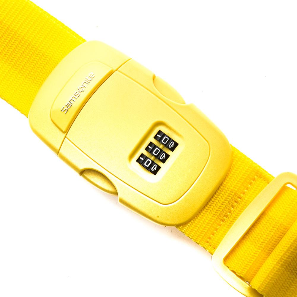 Samsonite Travel Accessoires Kofferriem met Cijferslot Yellow