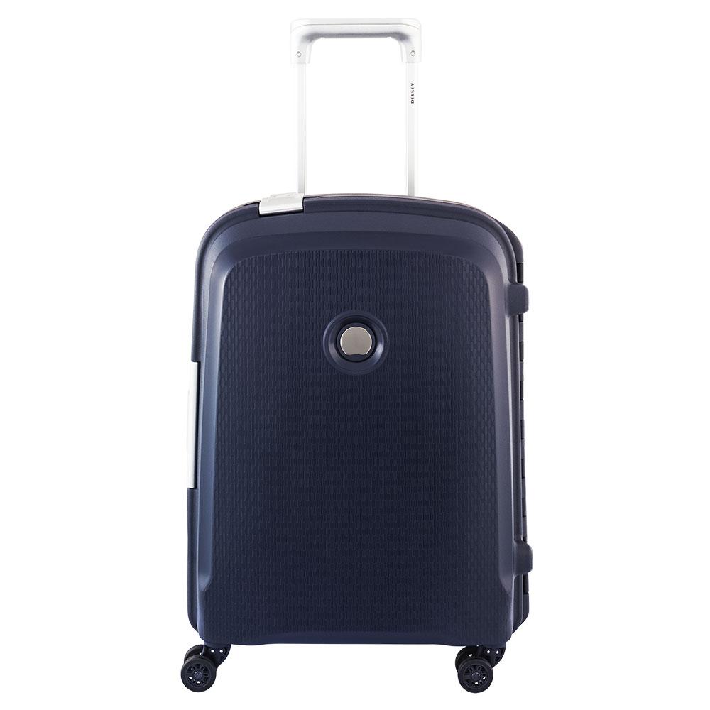 Afbeelding van Delsey Belfort Plus Spinner Cabin Trolley Slim 55 Blue Harde Koffers