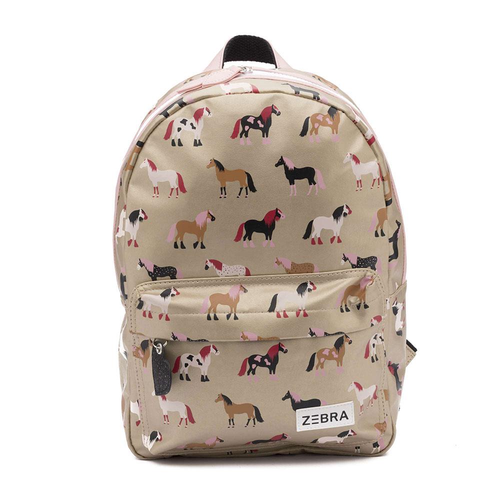 Zebra Trends Kinder Rugzak M Horses Gold