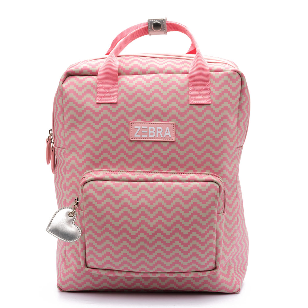 Zebra Trends Kinder Rugzak L Zigzag Pink
