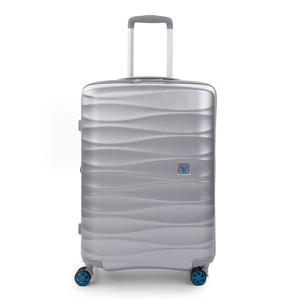 Roncato Stellar 4 Wiel Trolley Medium 64 Expandable Silver