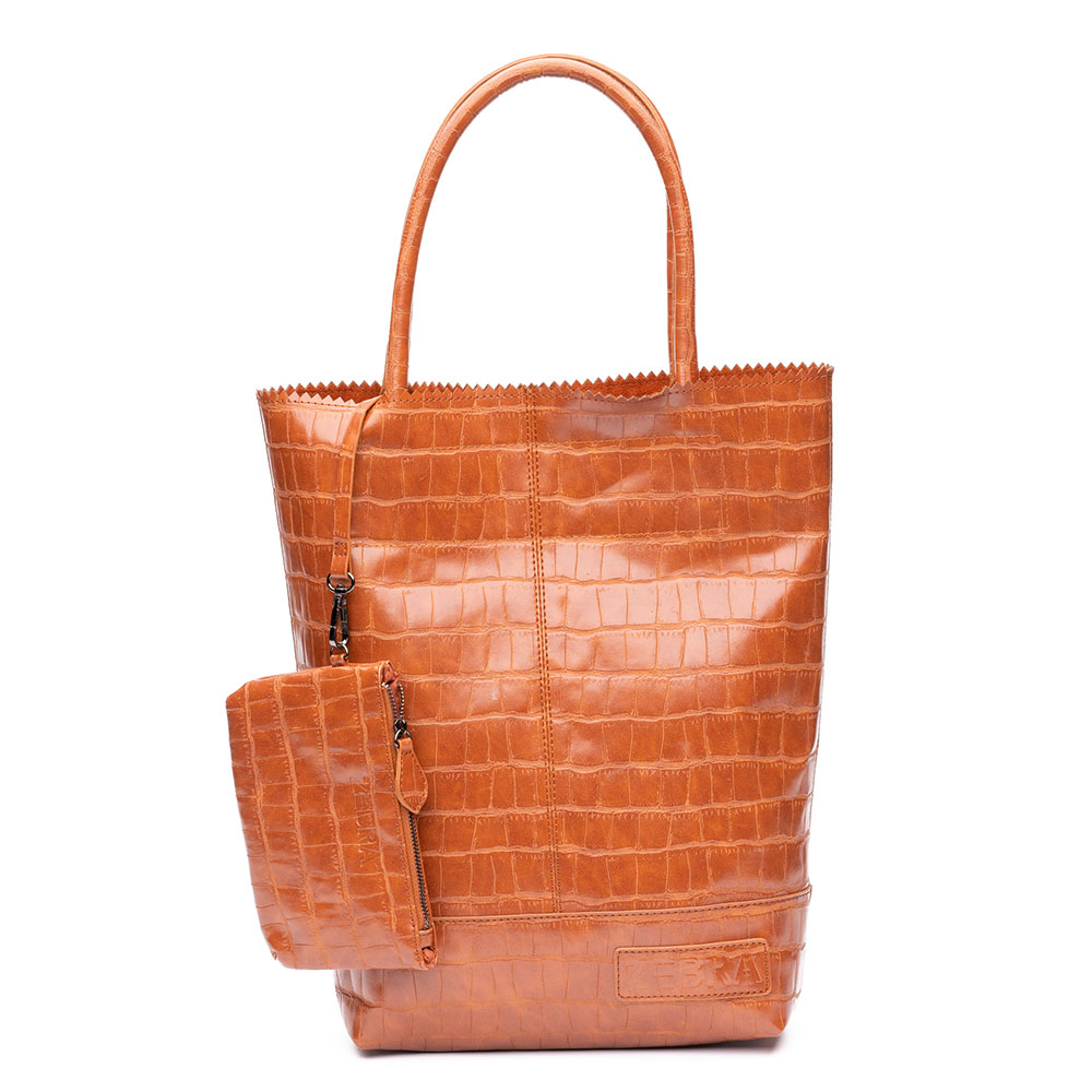 Zebra Trends Natural Bag Kartel Croco Cognac