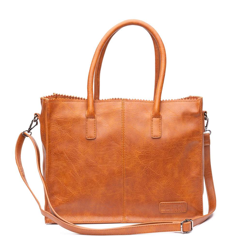Zebra Trends Natural Bag Kartel Lisa Kunstleer Camel