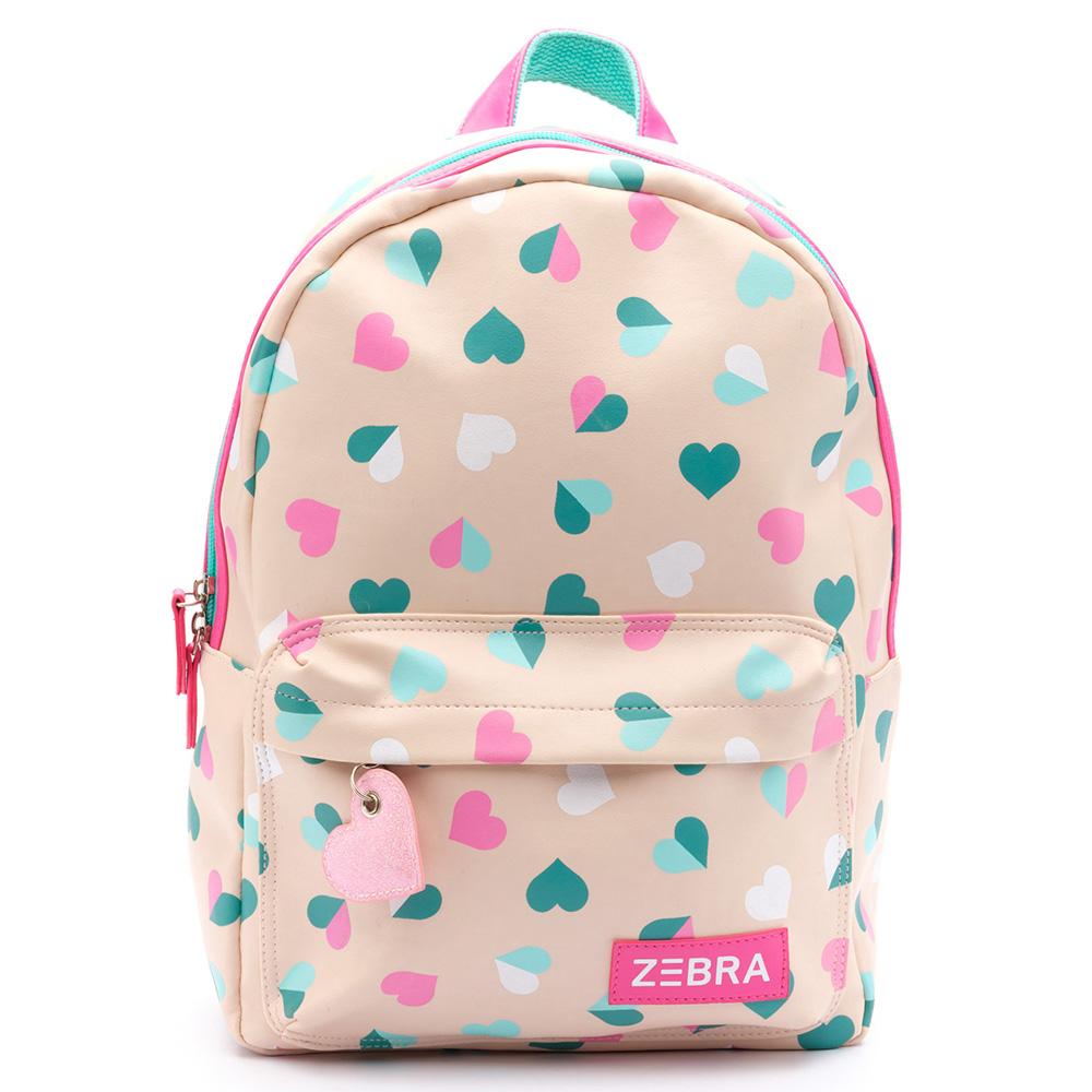 Zebra Trends Kinder Rugzak M Hearts Pink