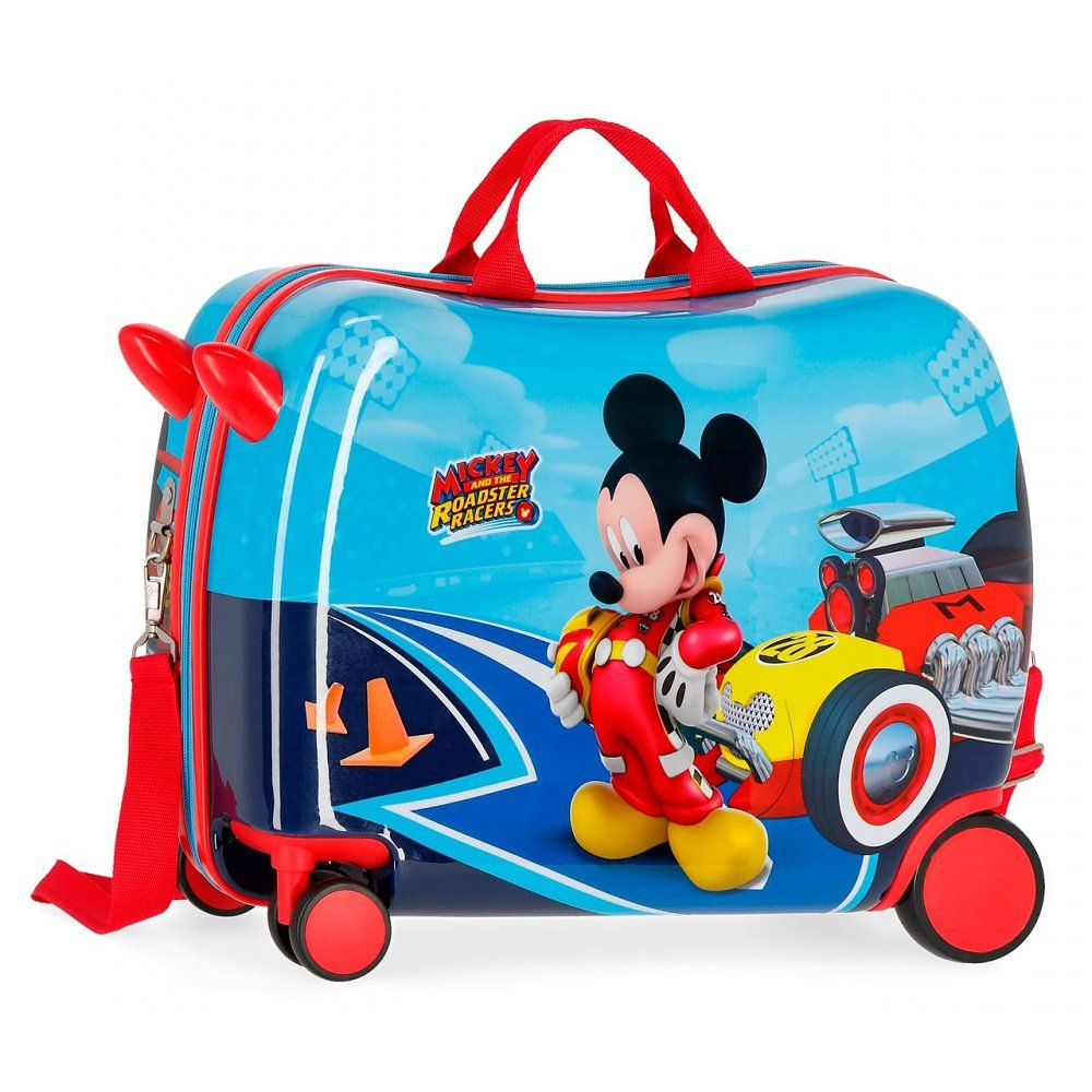 Disney Rolling Suitcase 4 Wheels Mickey Mouse Racers