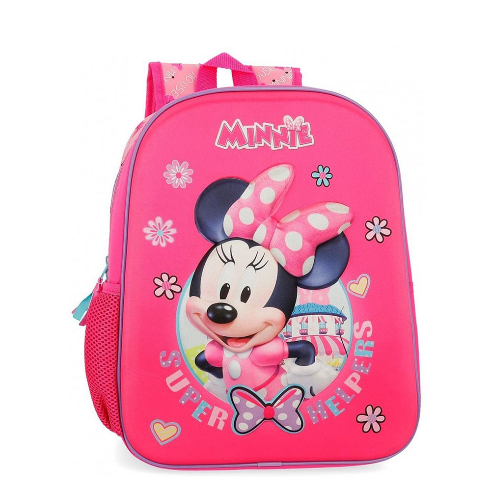Disney Backpack 33 Cm Minnie Mouse 3D Pink