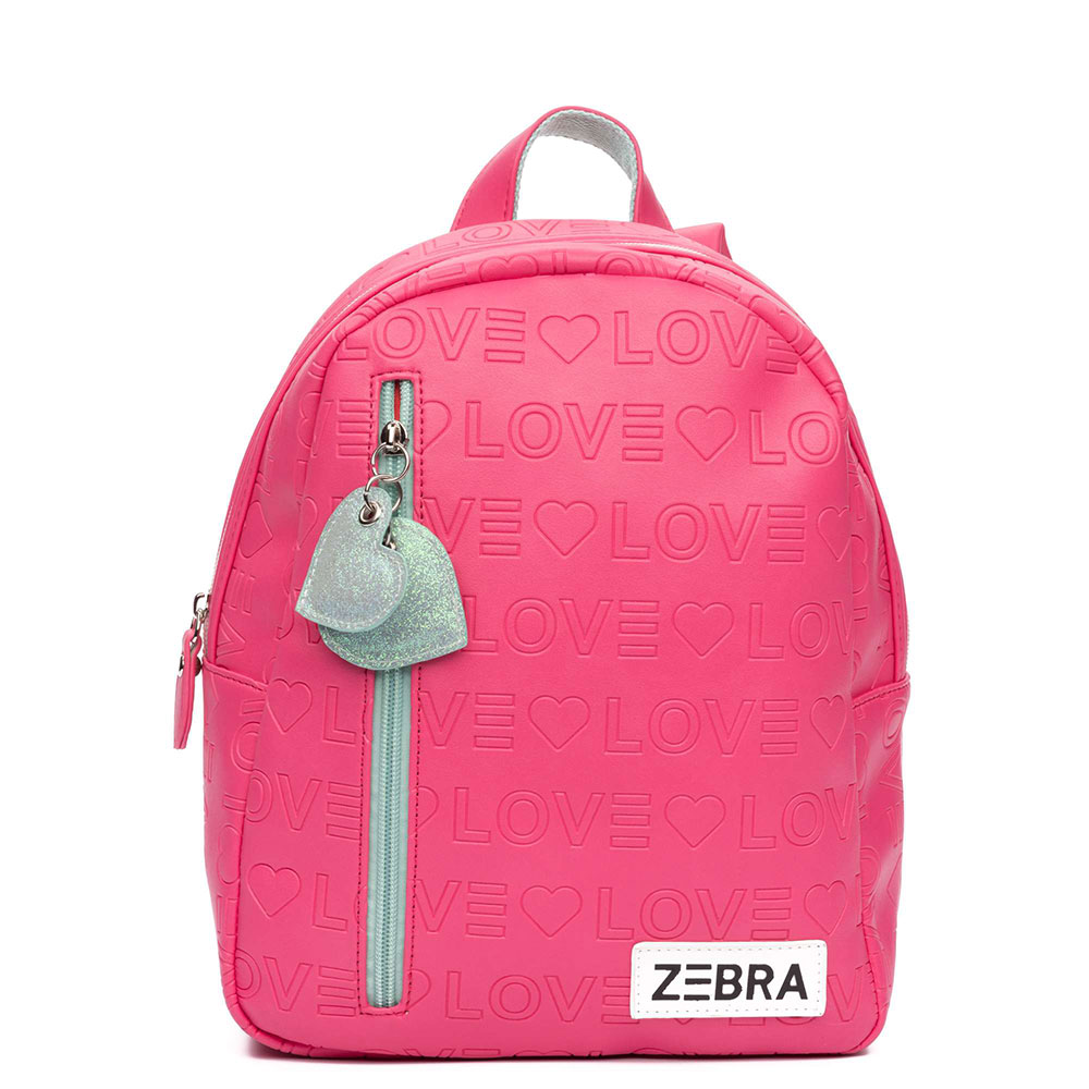Zebra Trends Kinder Rugzak S Love Pink
