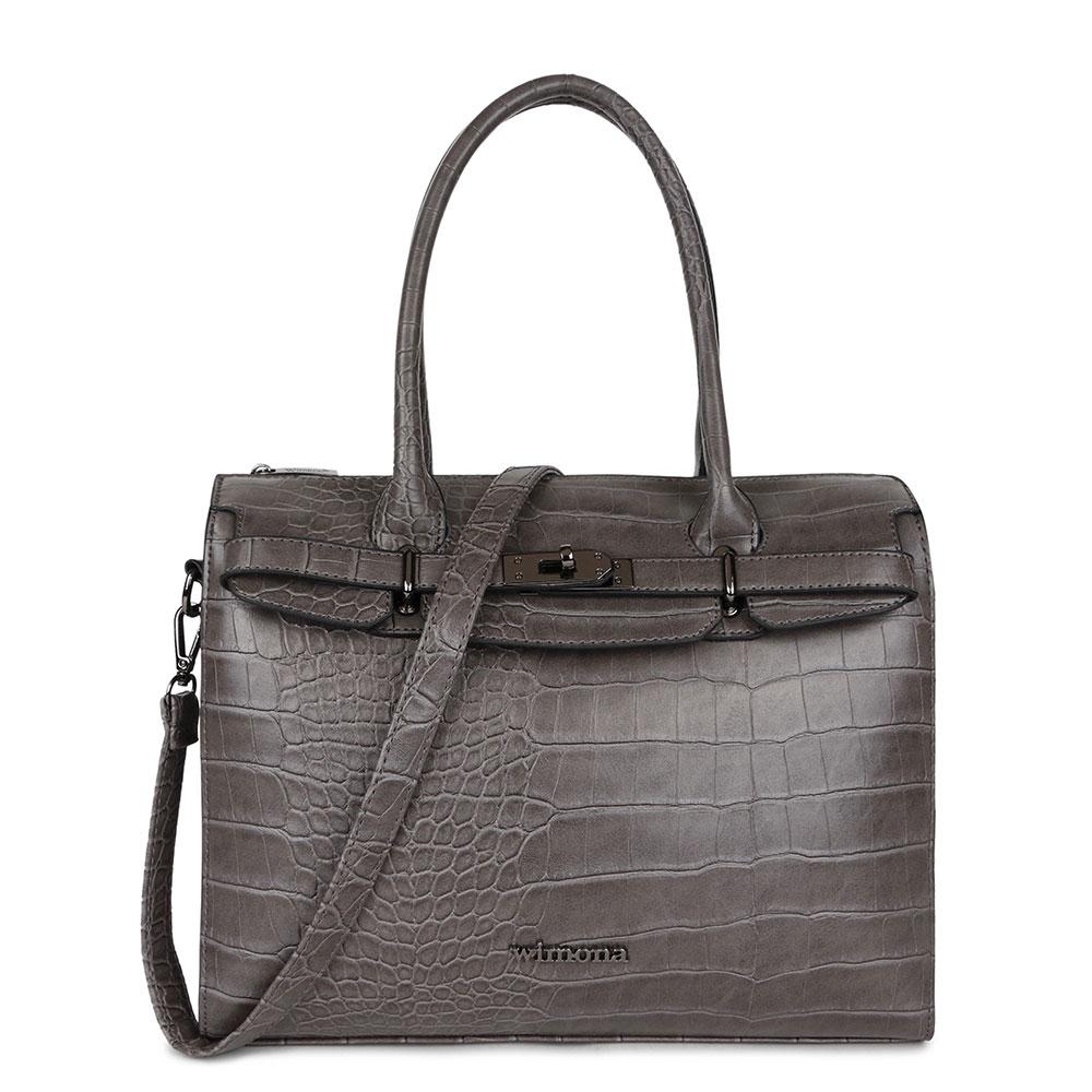 Wimona Liona Handtas 5005 Croco Grey