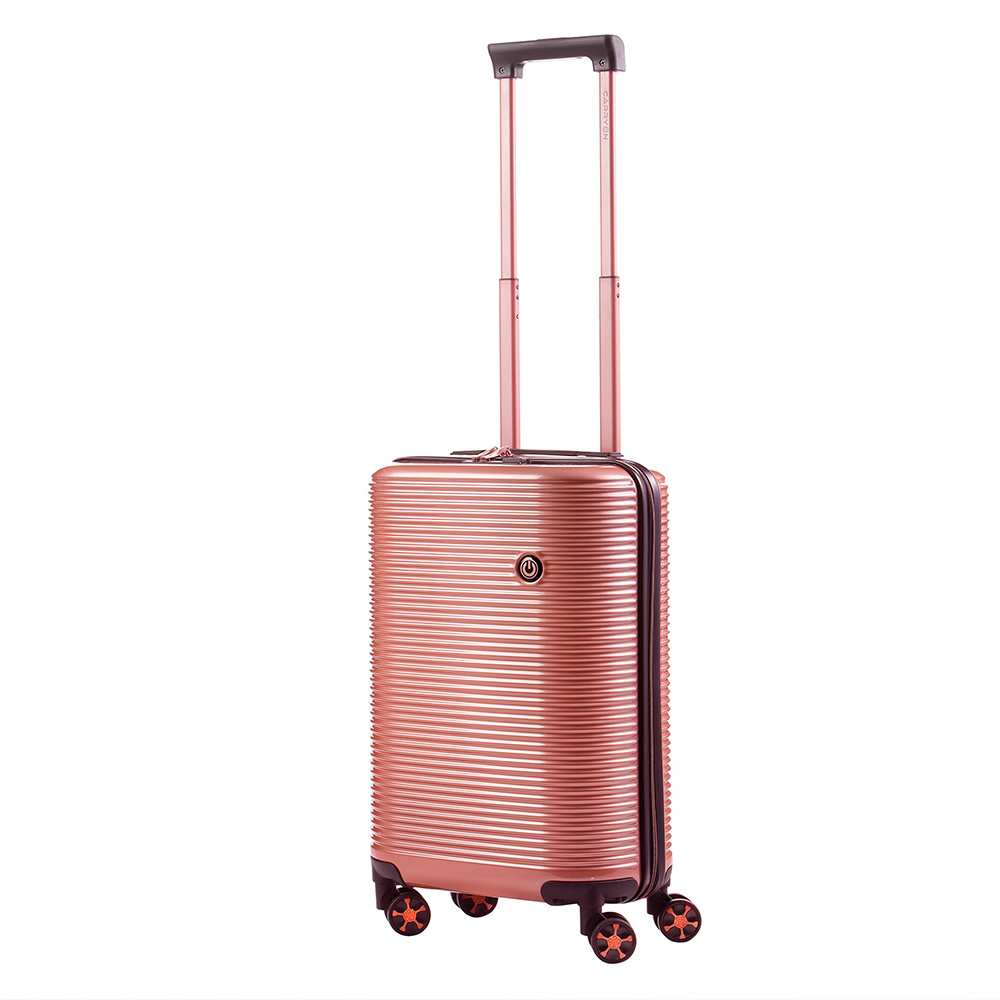 Harde Koffers CarryOn BlingBling Handbagage Spinner 55 Rose Gold