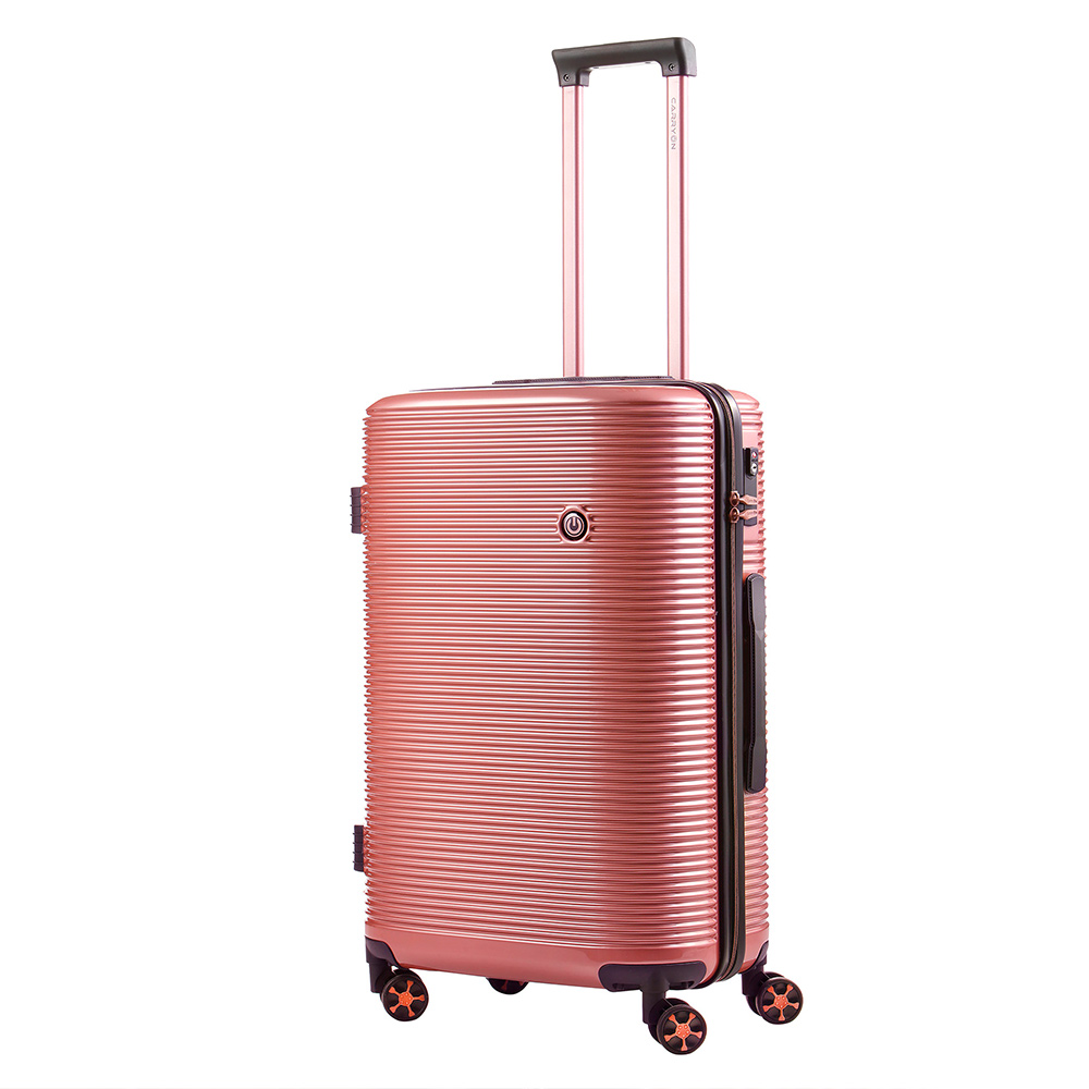 Harde Koffers CarryOn CarryOn BlingBling Spinner 66 Rose Gold