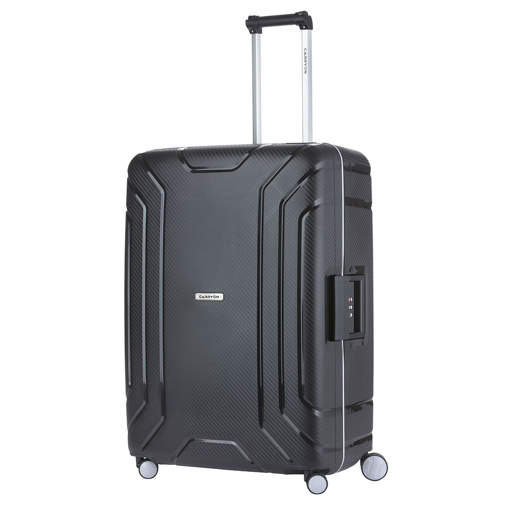 CarryOn Steward Trolley 75 black Harde Koffer
