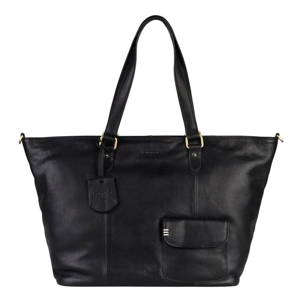 Burkely Craft Caily Wide Shopper Black