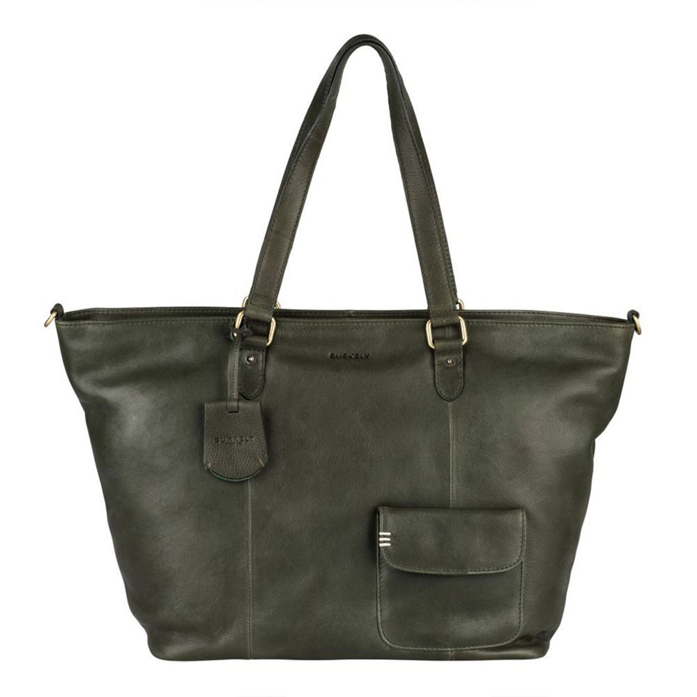 Burkely Craft Caily Wide Shopper Riffle Green