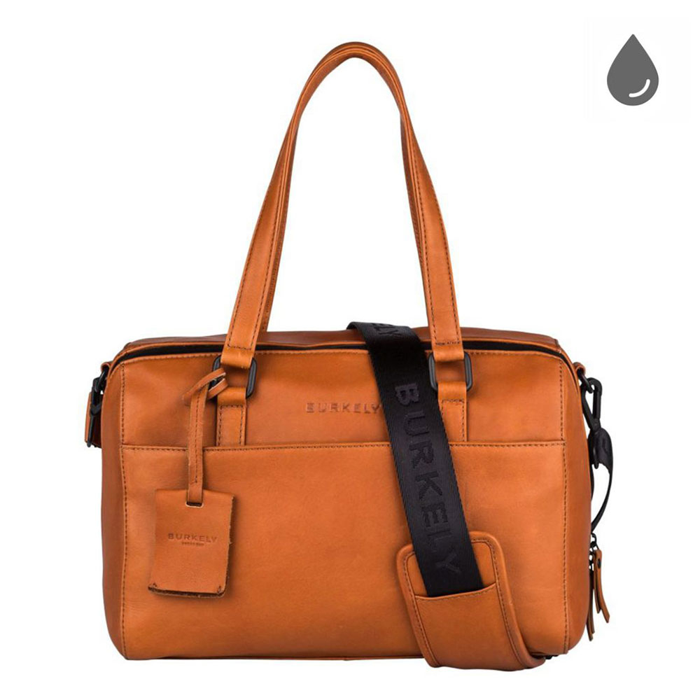 Burkely Rain Riley Handbag S Corroded Cognac