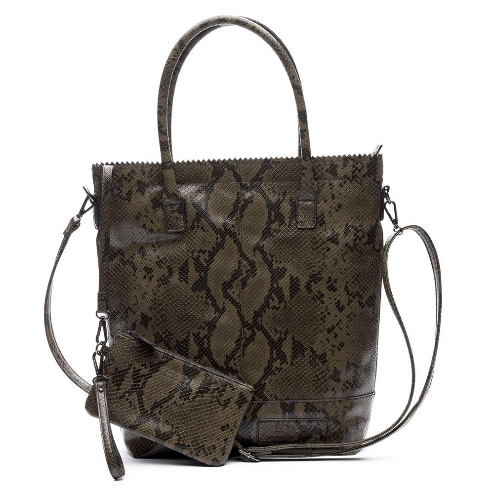 Zebra Trends Natural Bag Snake Rits Army 552207