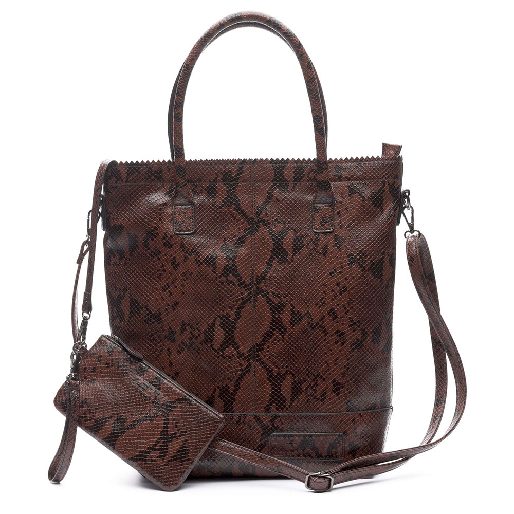 Zebra Trends Natural Bag Snake Rits Brown 552207