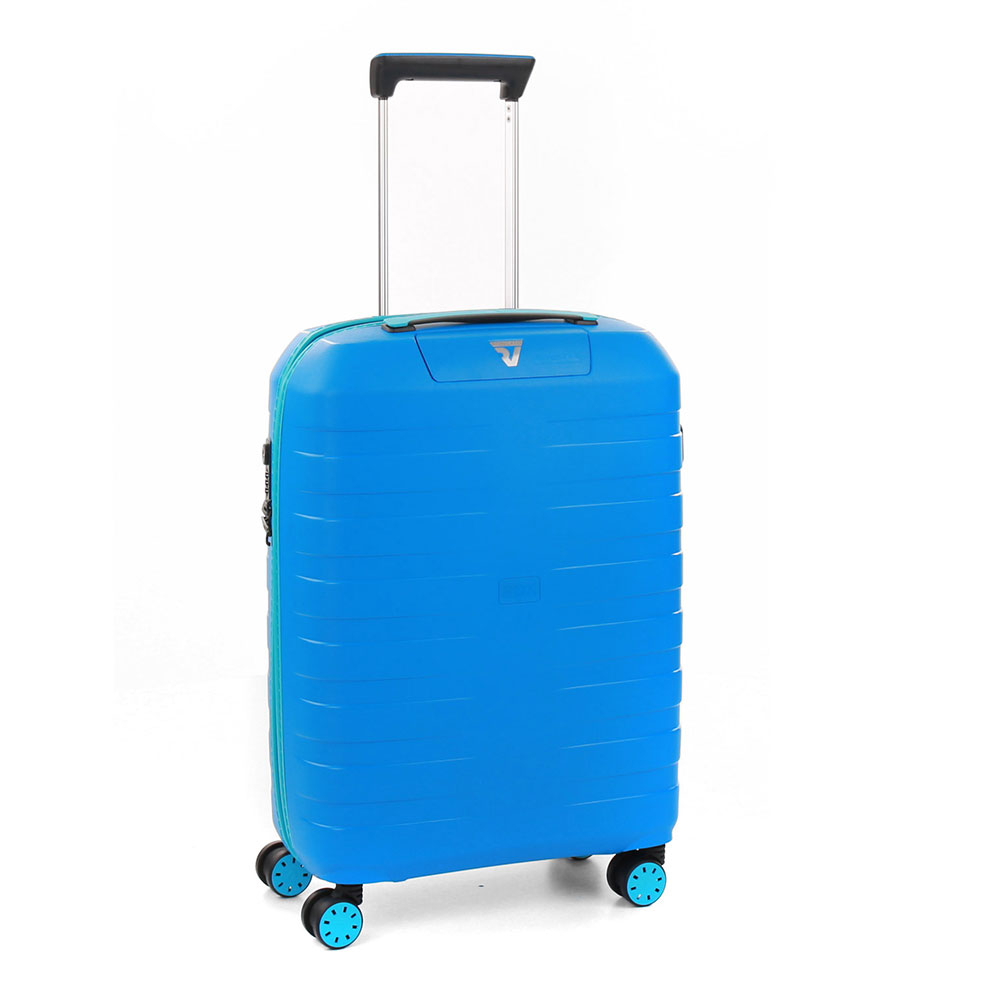 Roncato Box 2.0 Young 4 Wiel Cabin Trolley 55 Anise Blue