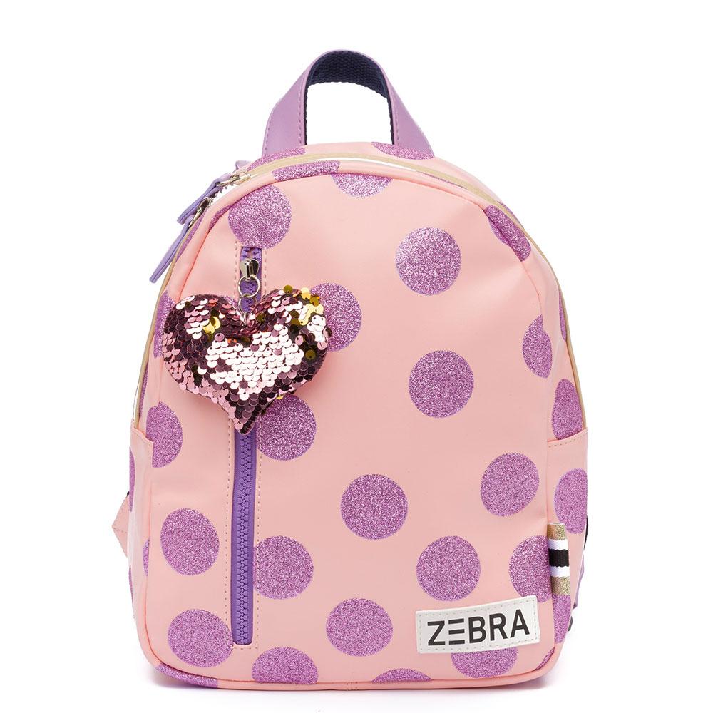 Zebra Trends Kinder Rugzak S Glitterdots Pink