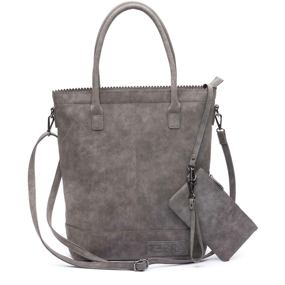 Zebra Trends Natural Bag Kartel Rits Grey